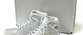 Nike Air Jordan 1 Retro Silver 25th Anniversary Package / Kotníkové sneakers Air Jordan