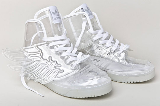 ... by Originals Jeremy Scott JS Wings Clear / Neviditelné tenisky adidas