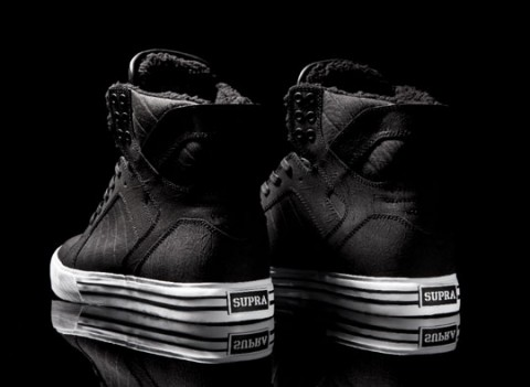 Supra Skytop Black Bear / Kotníkové boty s kožešinou