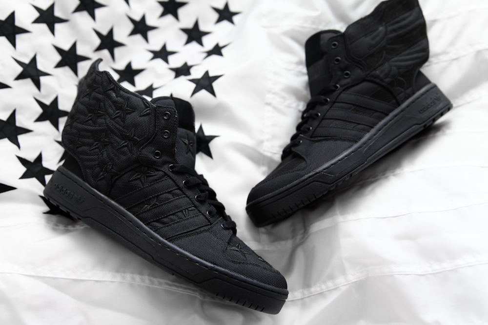 adidas Originals x Jeremy Scott x A$AP Rocky / Tenisky JS Wings 2.0 BLACK FLAG