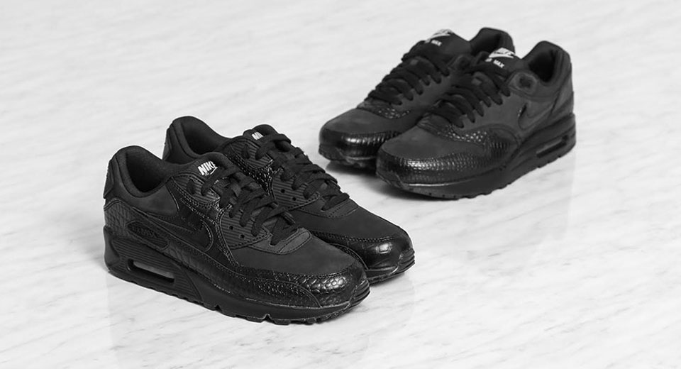 Černé sneakers Nike Air Max / Croc Pack