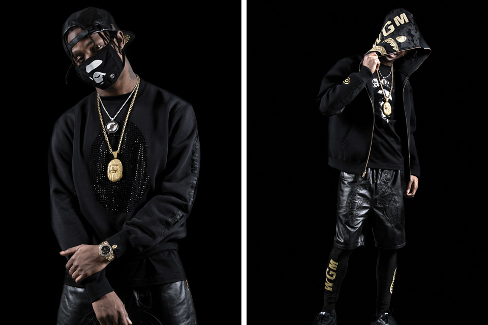 BAPE BLACK Line jaro/léto 2015 - Lookbook ft. Travi$ Scott