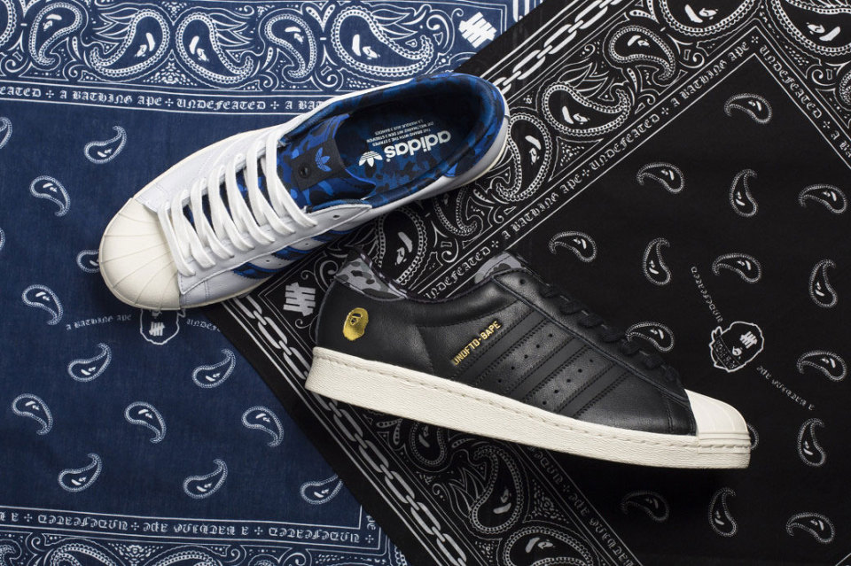 BAPE x Undefeated x adidas Originals / Kolekce tenisek Superstar 80s
