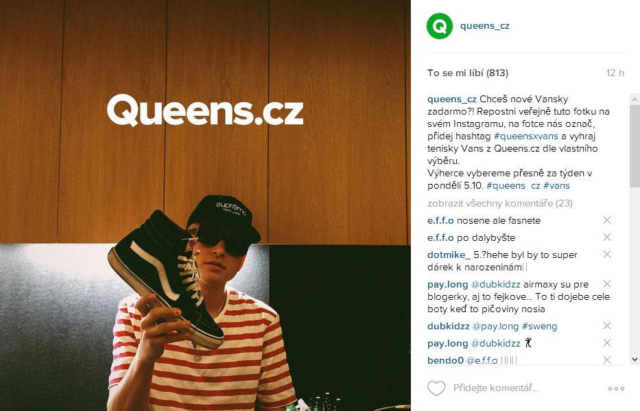 b0213f7e4d Vyhraj pánské tenisky Vans na Instagramu s Queens.cz — StyleHunter